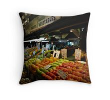 Fruits & Vegetables Throw Pillow