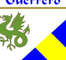 Guerrero Coat of Arms/Family Crest Sticker