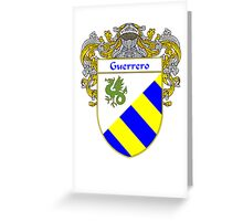 Guerrero Coat of Arms/Family Crest Greeting Card