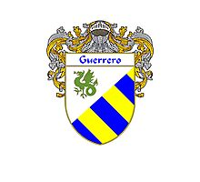 Guerrero Coat of Arms/Family Crest Photographic Print