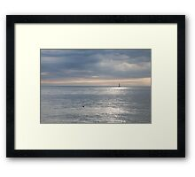 Sailing the silver sea. Framed Print