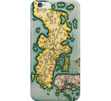 Vintage Antique Map of Japan Circa 1595 iPhone Case/Skin