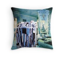 Strangeness of Christmas Wrapping Paper. Throw Pillow