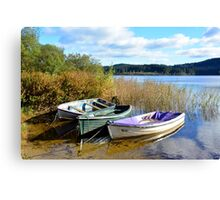 Boats On Loch Ard Canvas Print