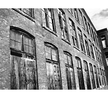 Black and White abandoned Building Photographic Print