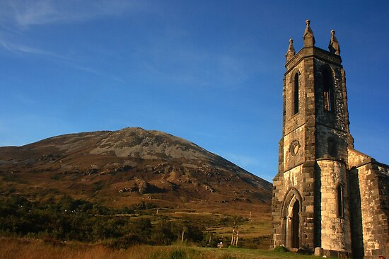 Dunlewey Church and Mount Errigal by Adrian McGlynn