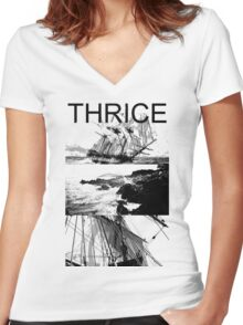 Violent Sea Women's Fitted V-Neck T-Shirt