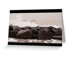 Sea and rocks Greeting Card