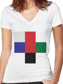 Color geeks  Women's Fitted V-Neck T-Shirt
