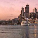 Sydney Sunrise Skyline by Adriano Carrideo