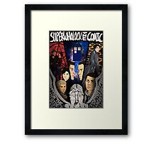 SuperWhoLock The Comic Official Poster Framed Print