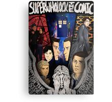 SuperWhoLock The Comic Official Poster Metal Print