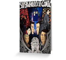 SuperWhoLock The Comic Official Poster Greeting Card