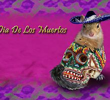 Dia De Los Muertos Day Of The Dead Squirrel by jkartlife
