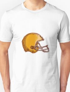 American Football Helmet Drawing T-Shirt