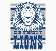 Detroit Lions Retro Shirt by fleshandbone