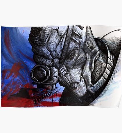 Garrus Vakarian - Second Thoughts Poster