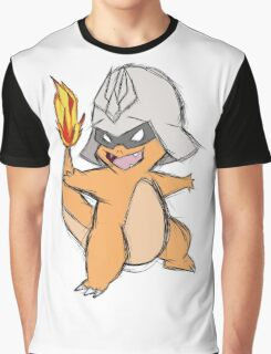 Char-Mander Aznable (Pokemon) Graphic T-Shirt