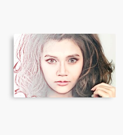 Face 24 - Fade to Pink Canvas Print