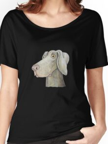 Quirky Weinmaraner in Watercolour Women's Relaxed Fit T-Shirt