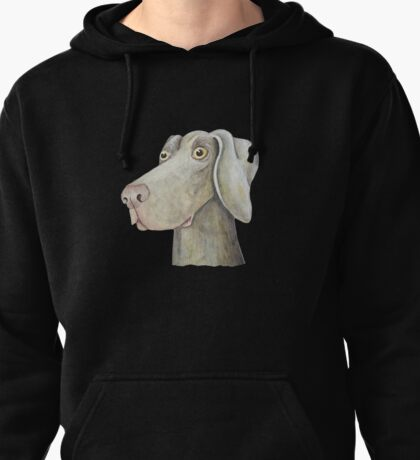 Quirky Weinmaraner in Watercolour Pullover Hoodie