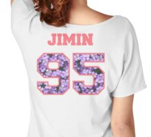 BTS- JIMIN 95 Line Flower Design Women's Relaxed Fit T-Shirt