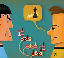 Kirk vs. Spock by Matt Kroeger