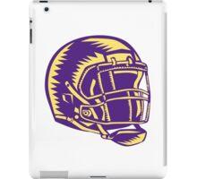 American Football Helmet Woodcut iPad Case/Skin