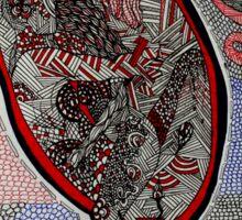 Tribal Heart Sticker