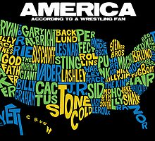 American Map for Pro Wrestling Fans by TopRopeTuesday