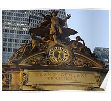 Sculpture and Clock Atop Grand Central Terminal, New York City Poster
