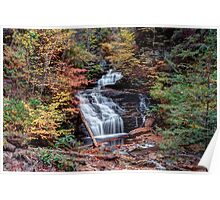 Fall Colors From Below Mohican Falls Poster