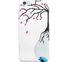 The eye of the blue tree  iPhone Case/Skin
