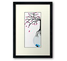 The eye of the blue tree  Framed Print