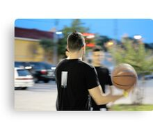 Ball Player Canvas Print