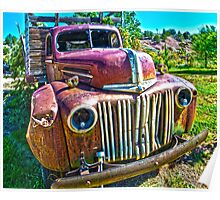 Rusty Ford Truck Poster