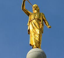 Angel Moroni on the Salt Lake LDS Temple by Skip Weeks