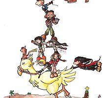 Chocobo Riding by SkylarJade
