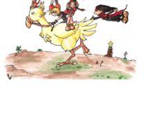 Chocobo Riding Sticker