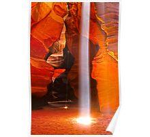 Shaft of Light - Antelope Canyon Arizona Poster