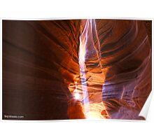 Slot Beams - Antelope Canyon Poster