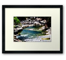 Down the river - Babinda Boulders Framed Print