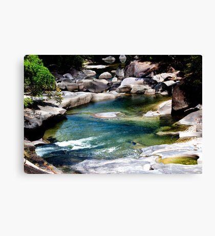Down the river - Babinda Boulders Canvas Print