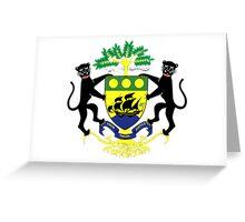 Gabon Coat of Arms Greeting Card