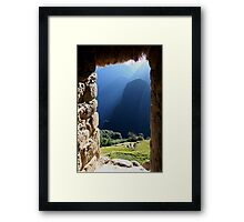 Machu Picchu - Room with a view Framed Print