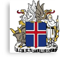 Iceland Coat of Arms  Canvas Print