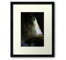 Inca Trail - The path twists and turns Framed Print