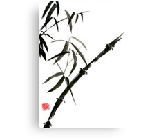 Bamboo japanese chinese sumi-e suibokuga tree watercolor original ink painting Canvas Print
