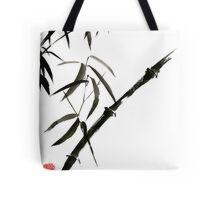 Bamboo japanese chinese sumi-e suibokuga tree watercolor original ink painting Tote Bag