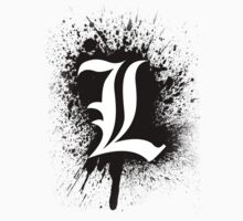 Death Note L's Symbol (Splater Ver.) by Az McAarow